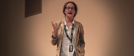 Actress Melissa Leo visits the New York City Campus