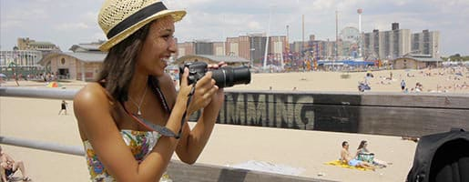 New York City photographer at Coney Island