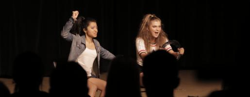 Teen actors perform for summer acting camp film
