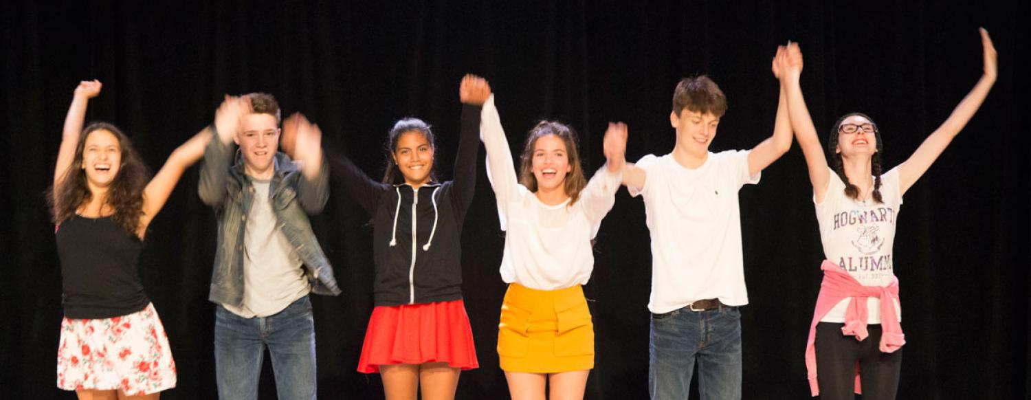 Teen Actor Performing in Summer Acting Camp Take A Bow
