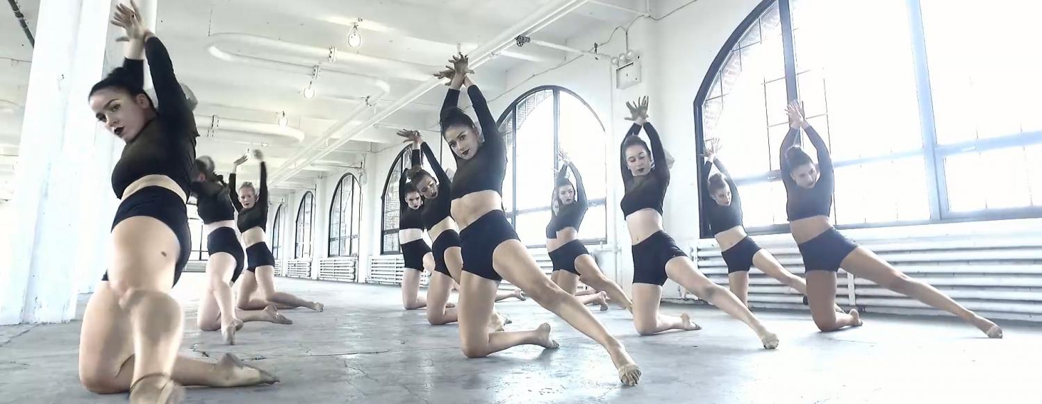 Teen Summer Dance Camp Dancers shooting their dance video at a performing in New York City