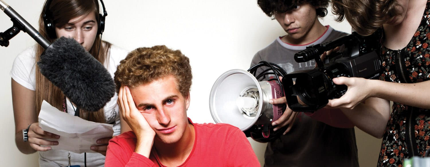 Teen Actors working with the SOCAPA Filmmaking Summer Camps